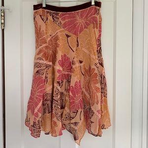 Anthropologie Fei Floral Leaf Skirt Size 10